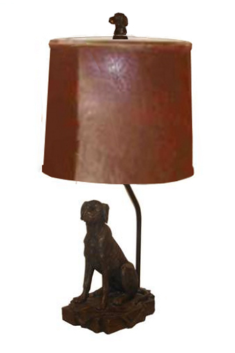 Oil Rubbed Bronze Dog Lamp